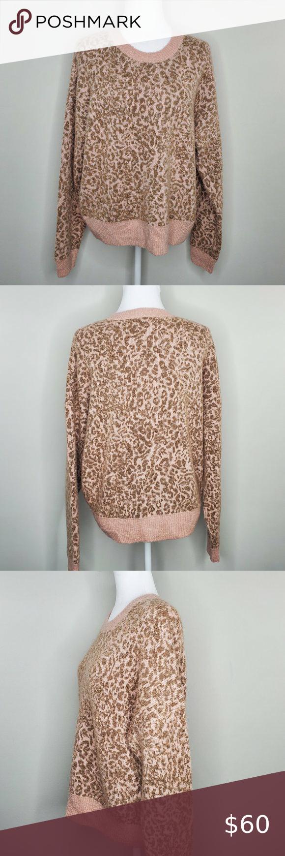 Madewell Leopard Print Crewneck Pullover Sweater Pullover Sweaters Leopard Print Madewell Sweater [ 1740 x 580 Pixel ]