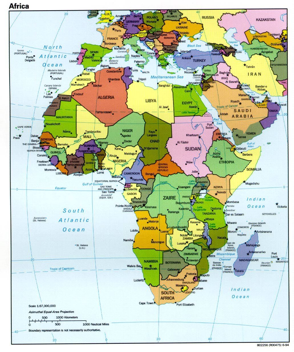Play Grow The Animals Of Africa For V Around The World - Africa physical map countries