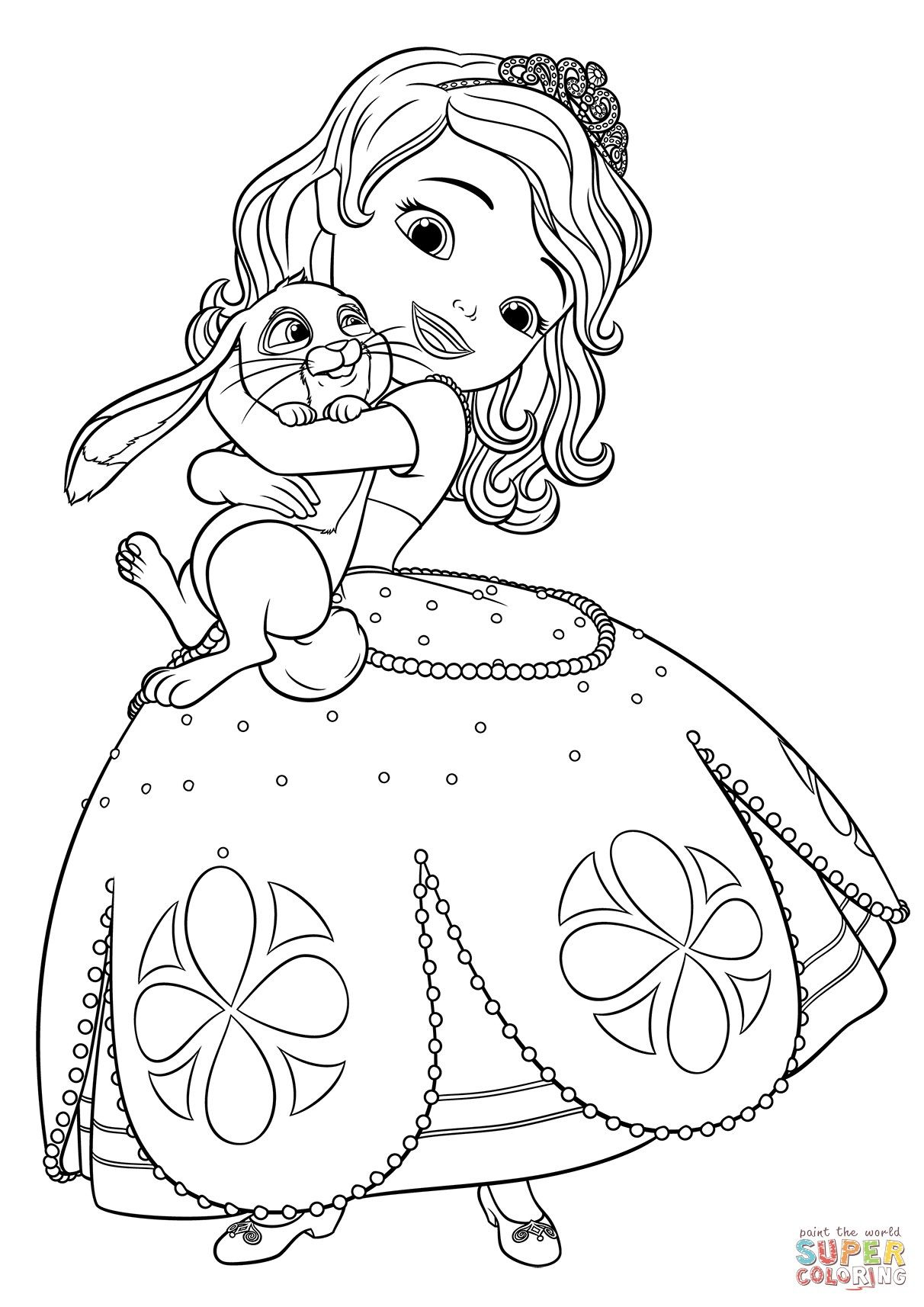 Free Printable Princess Sofia Coloring Pages Cartoon Coloring