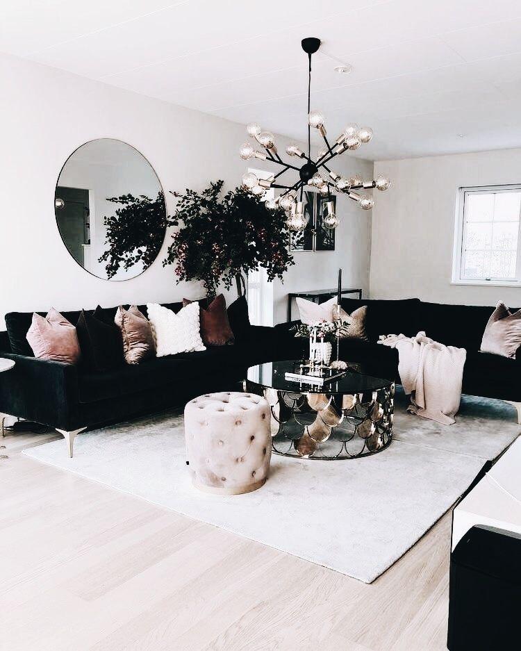 Black And Blush Apartment Decor Living Room Designs Room Design