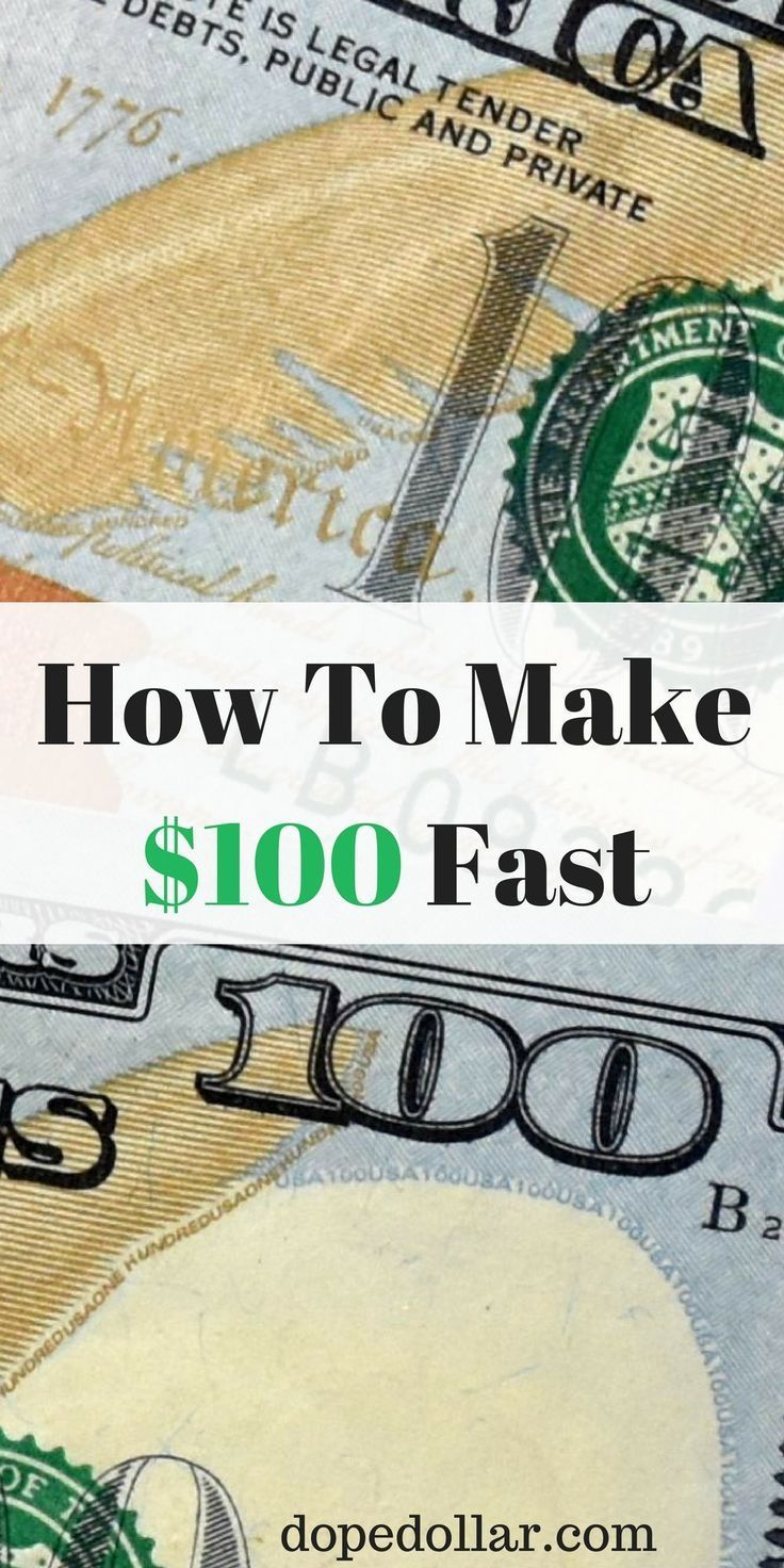 Want To Learn How To Make 100 Dollars Fast Here Are Proven Ways To Make 100 A Day Or More Earn Money Online Fast Earn Money Online Earn Money From Home