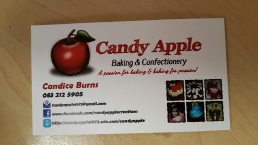 My First Candy Apple Business Cards Candy Apples Apple Business Confectionery