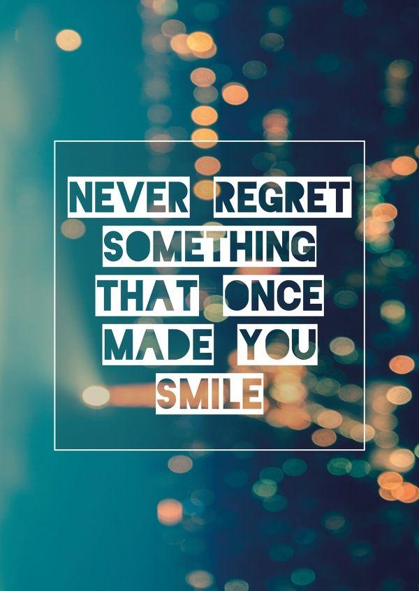 Never regret (Blurred)   Zitat, Sprüche und Sprüche zitate