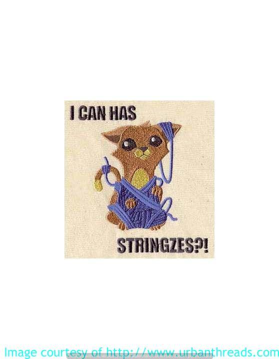 Stickbild Stickemblem Katze Landtiere  Wir sticken alle Motive für Sie auf Textilien aller Art: Taschen, Shirts und Handtücher....Datei von urbanthreads.com