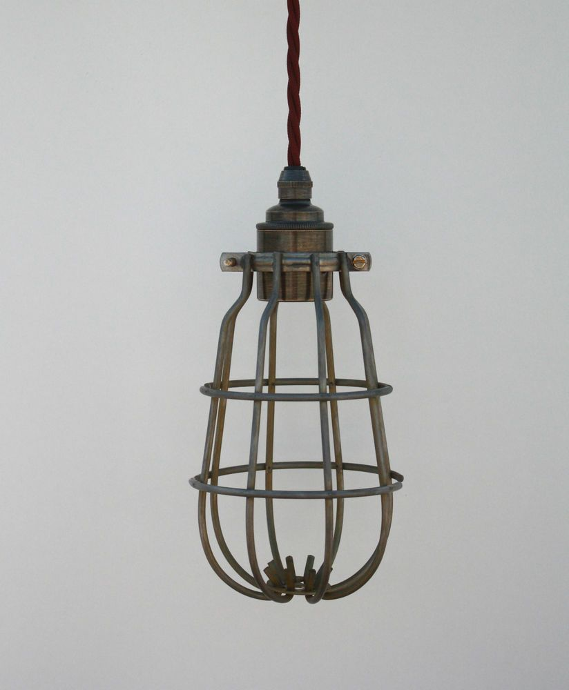 vintage lighting pendants. Exellent Pendants Light Cage Vintage Industrial Cage Light Lamp Guard Inspection Pendant  Inside Lighting Pendants I