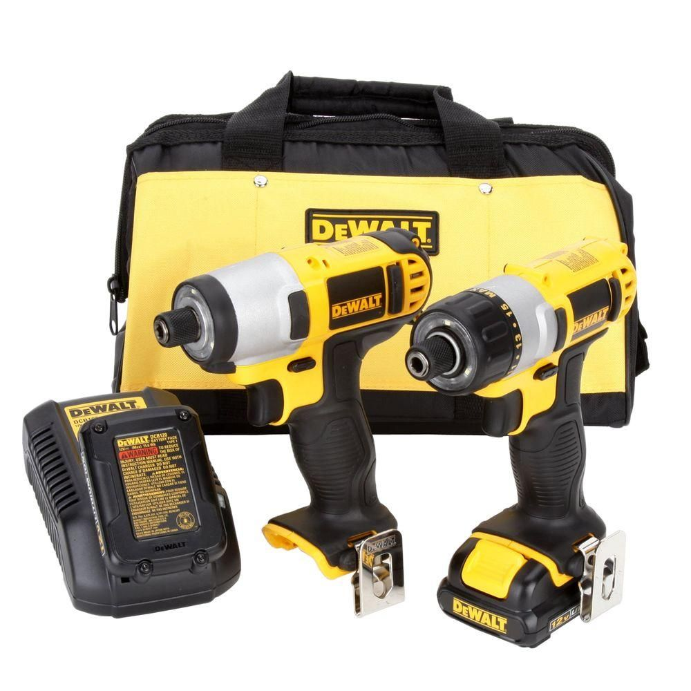 Dewalt 12 Volt Max Lithium Ion Cordless Screwdriver Impact Driver Combo Kit 2 Tool With 2 Batteries 1 5ah Charger And Bag Impact Driver Cordless Power Tools Bag Storage