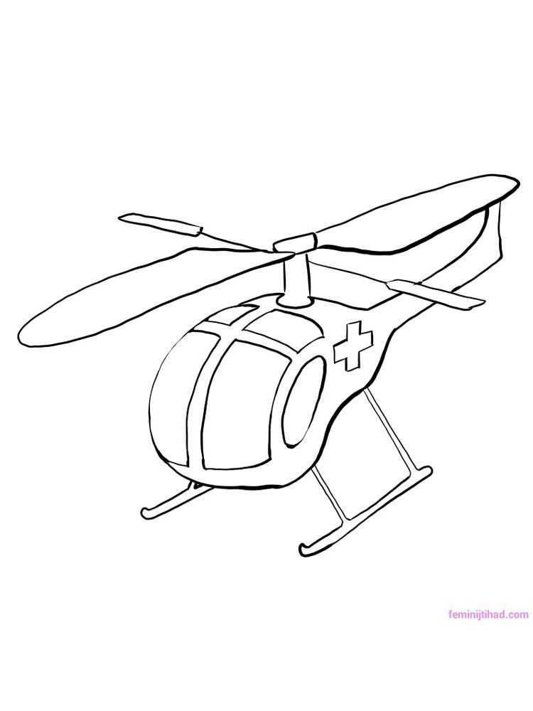 Lego Helicopter Coloring Pages