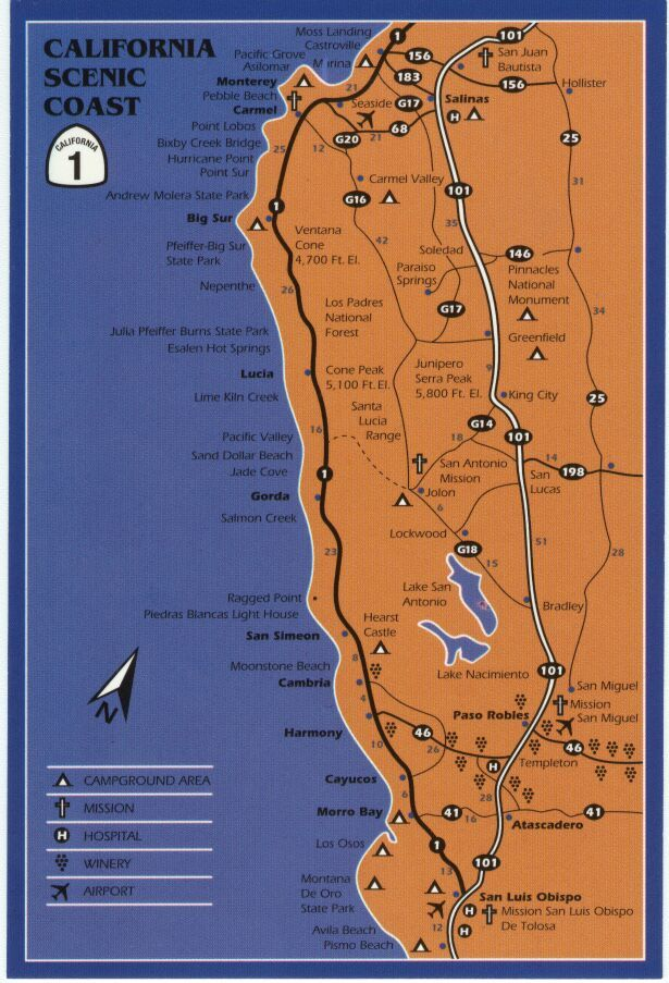 California Map Coastal Drive.Big Sur Coastal Drive Stops Essential Itinerary For A Road Trip On