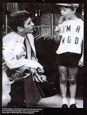 Angus Young of AC/DC at age 9
