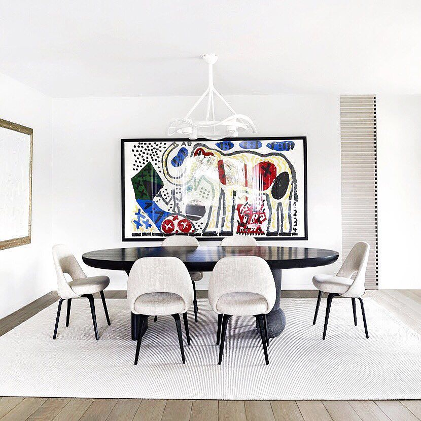 A Dining Space That Defines The Meaning Of Refined Simplicity Apartment Grange Canal Geneva Is Work French Architect And Designer Charles Zana By