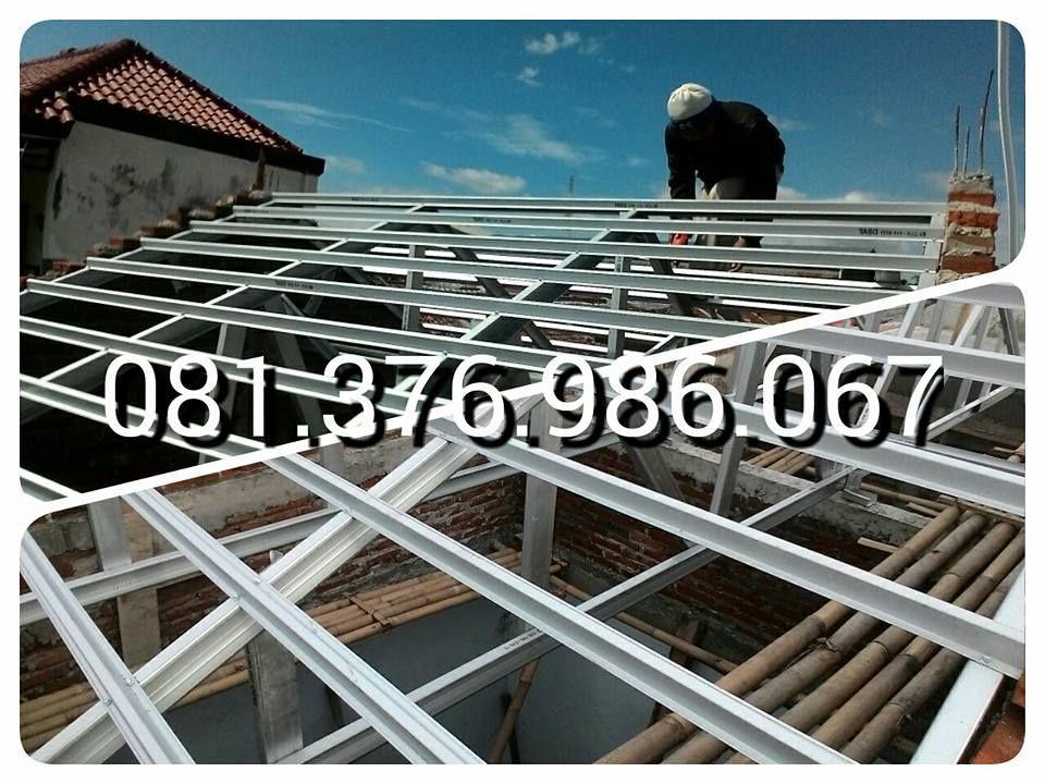 Rangka Baja Ringan Untuk Atap Asbes 081 376 986 067 Kanopi Bajaringan 199 Rb 120 Pagar