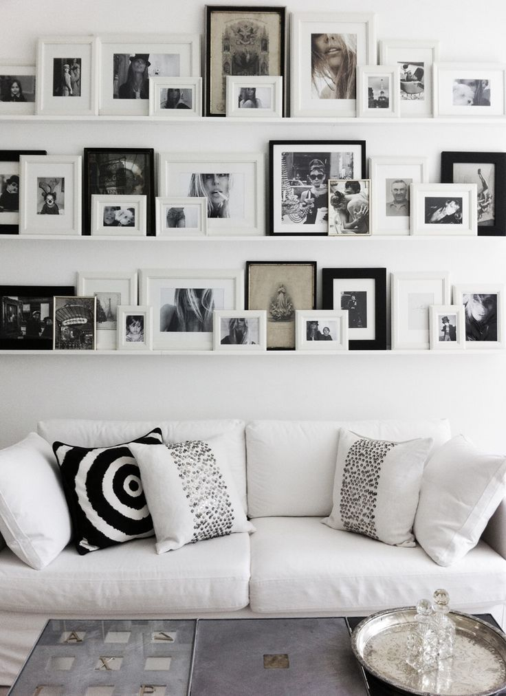 Photo Frame Inspiration   Gallery wall, Shelves and Change