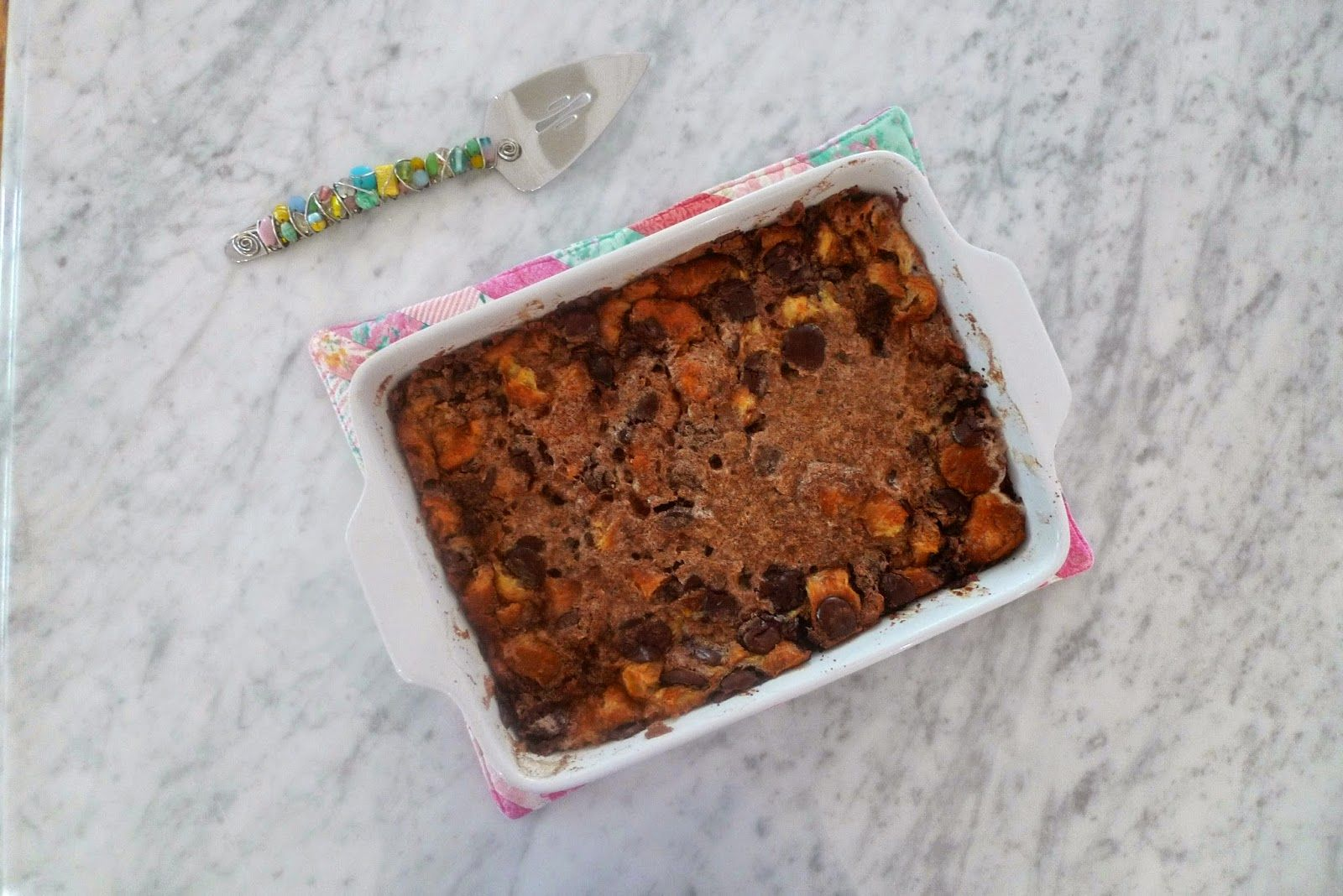 siriously delicious: Chocolate Croissant Bread Pudding