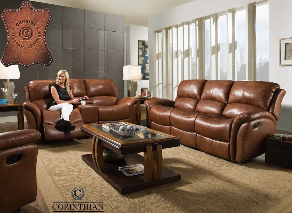 Best Italian Leather Softie Chestnut Reclining Sofa And 400 x 300