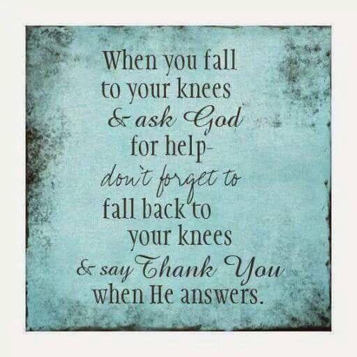 Prayer and thankfulness