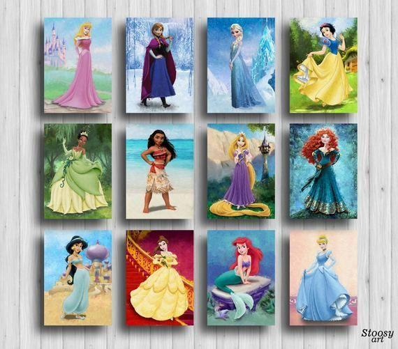 disney princess prints set of 12 disney room decor girls disney princess painting disney wall decor#decor #disney #girls #painting #princess #prints #room #set #wall