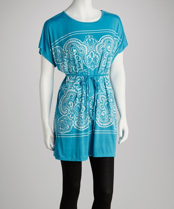 Take a look at this Turquoise Mehndi Tunic on zulily today!