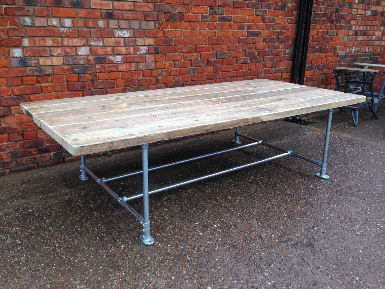 industrial style outdoor furniture. Industrial Style Scaffold Banquet/Boardroom Table Outdoor Furniture E