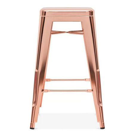 Superb Plata D Cor Import Inc Tolix Stool 30 Rose In 2019 Machost Co Dining Chair Design Ideas Machostcouk