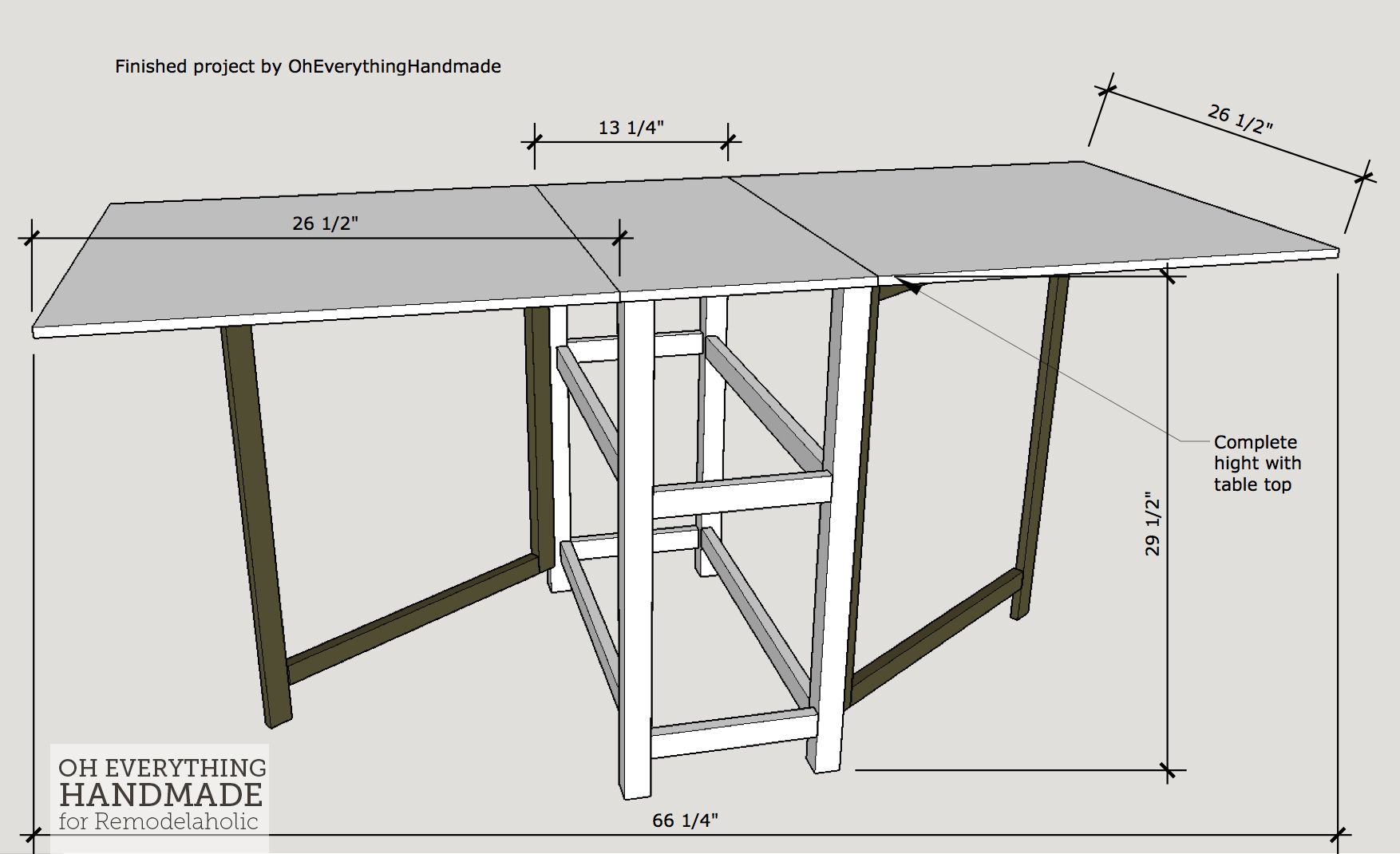 Remodelaholic Foldable Craft Table Made From Scrap Wood Craft Table Diy Craft Table Foldable Dining Table