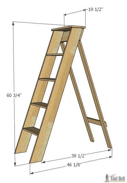 Diy Decorative Quot Vintage Quot Wood Ladder Ideas Wood Ladder