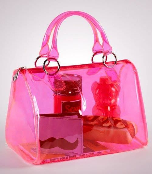 2ace00298 Hot pink clear bag | Its all bout the Handbags!!!! in 2019 | Neon ...