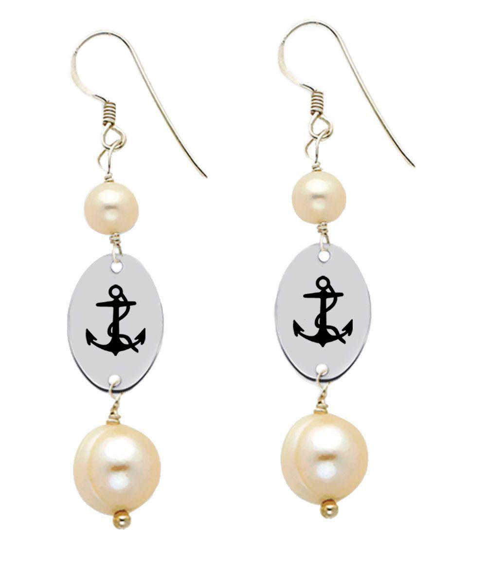 Delta gamma symbol freshwater pearl dangle earrings gamma symbol delta gamma symbol freshwater pearl dangle earrings buycottarizona Gallery