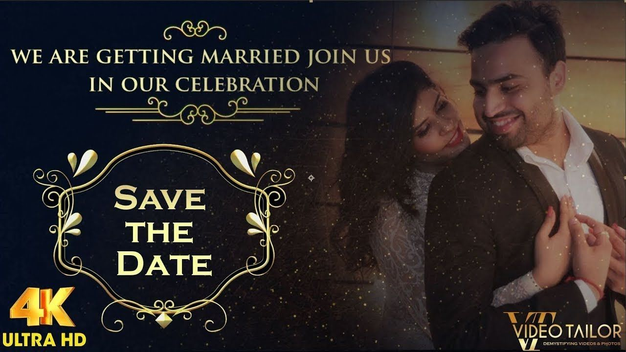 Save The Date Video Invitation With Pictures Vtsd038 A In 2020 Save The Date Video Wedding Invitations With Pictures Wedding Invitation Video