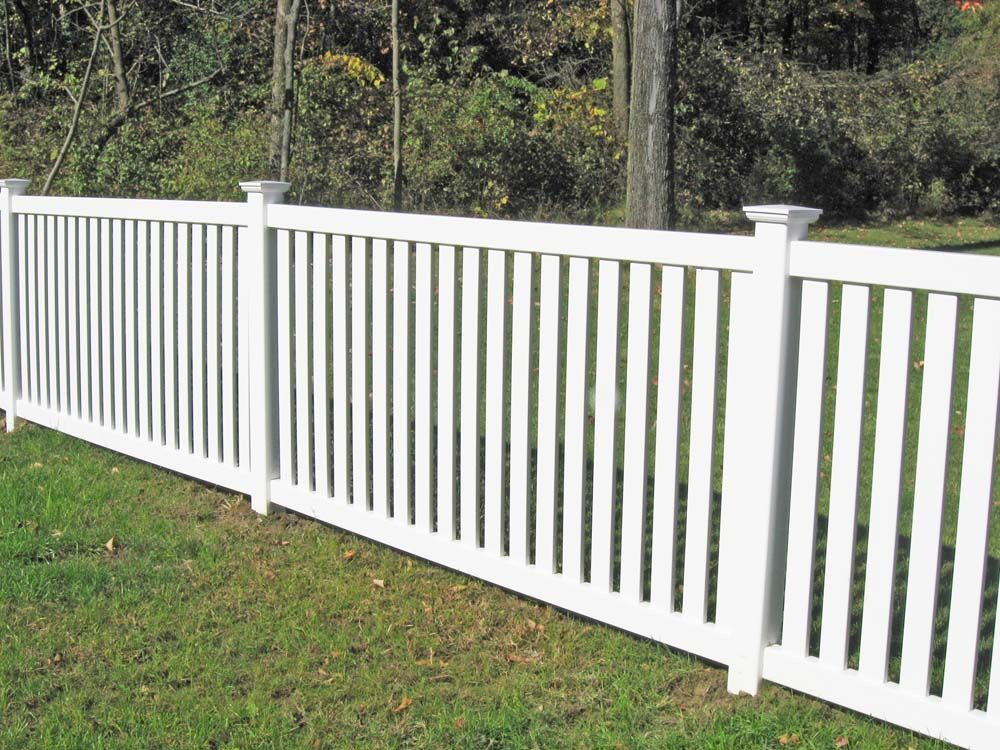 Vinyl picket fencing fence product lines