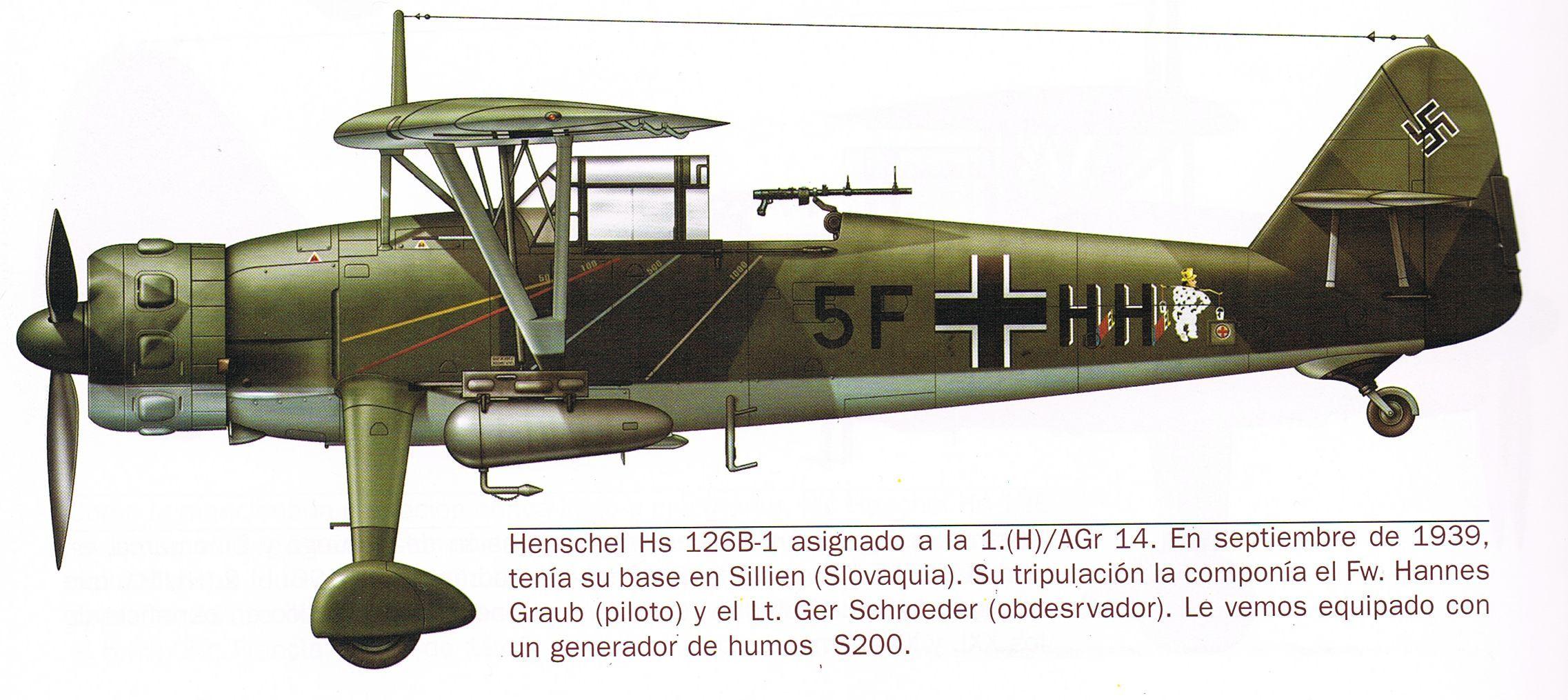 HS-126 B1   WW2 Luftwaffe   Pi...