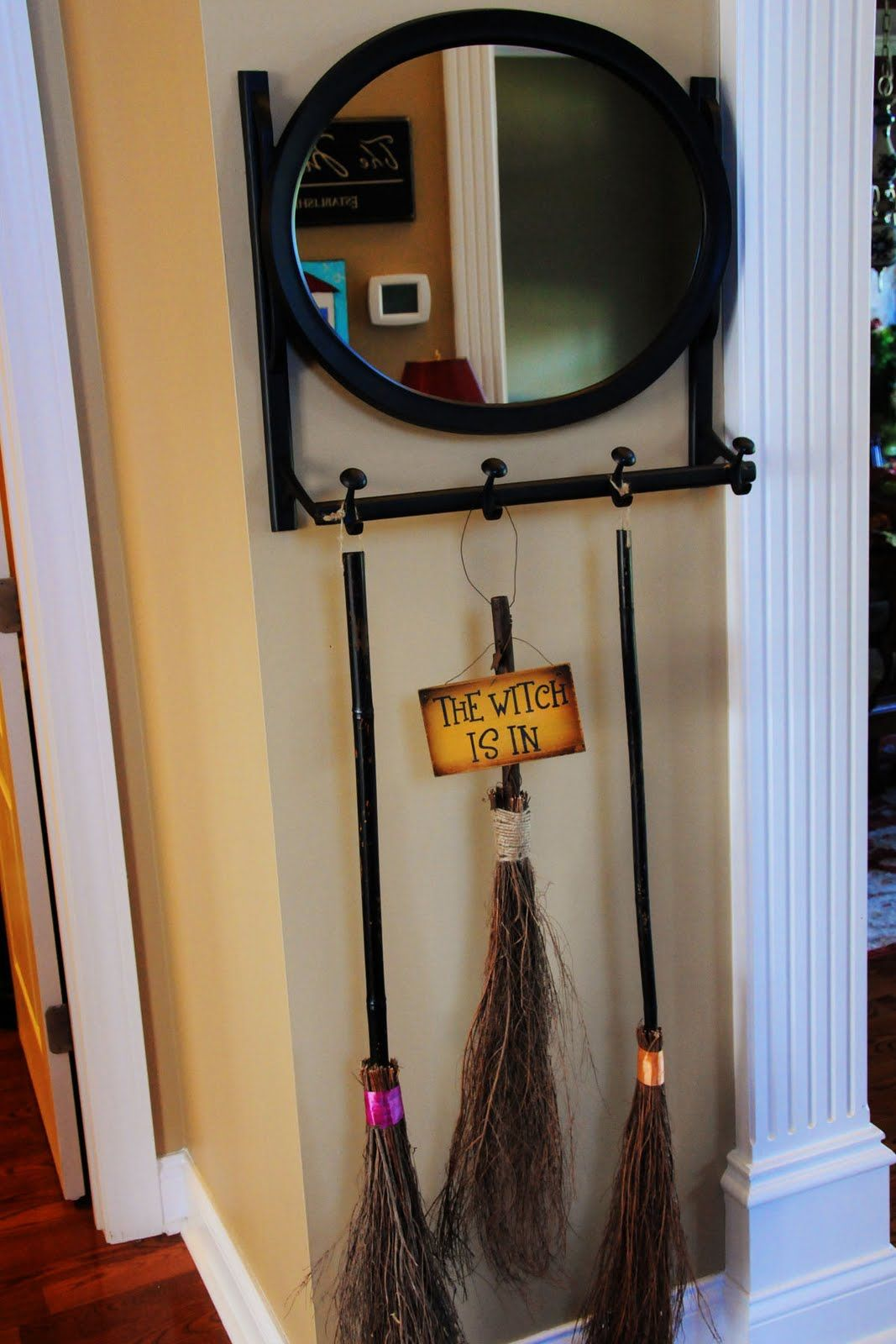 Broom Parking Halloween Pinterest Halloween decorations inside - Halloween Office Door Decorating Contest Ideas