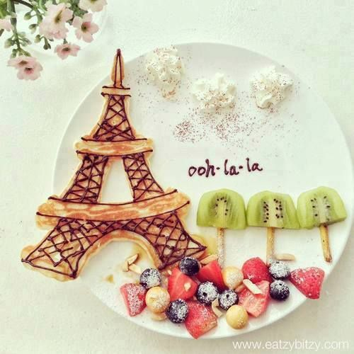 Who\u0027s never felt in love with Paris! Fruit art of eiffel tower! Look