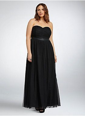 ebdcfb965d1  p Get ready for a Cinderella moment in this gown. An empire silhouette is  figure flattering with a defined faux leather bust band.