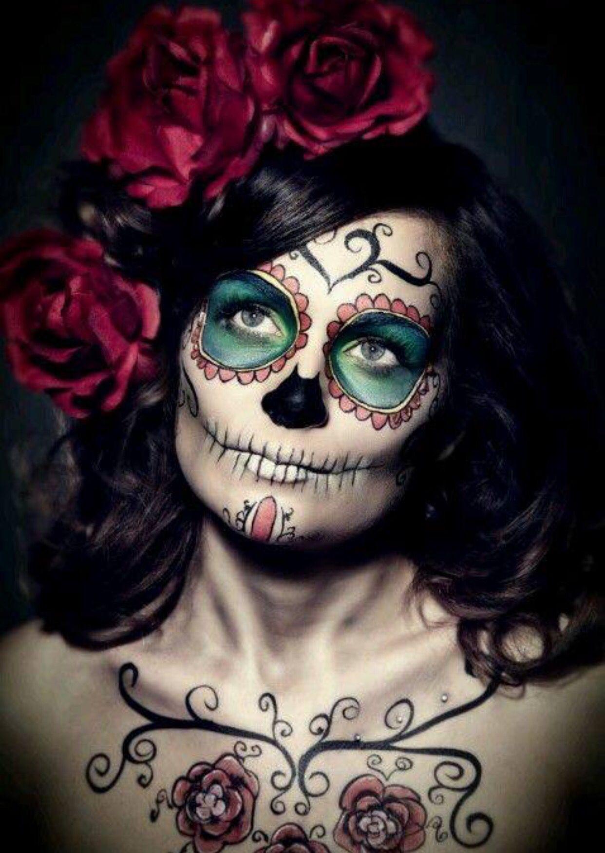Elegance dia de los muertos make up catrinas pinterest dia de las muertos d a de y d a - Maquillage dia de los muertos ...