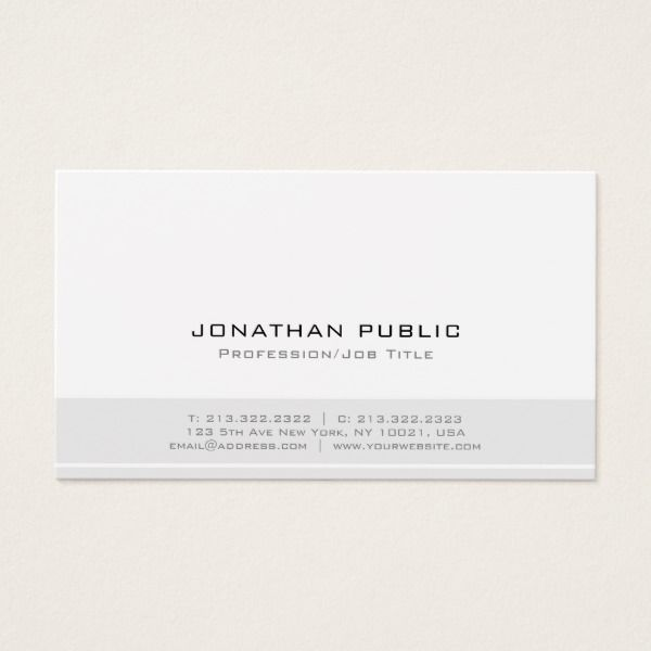 minimalist modern professional elegant plain white business card custom professional business cards for teachers and tutors teacher tutor businesscards