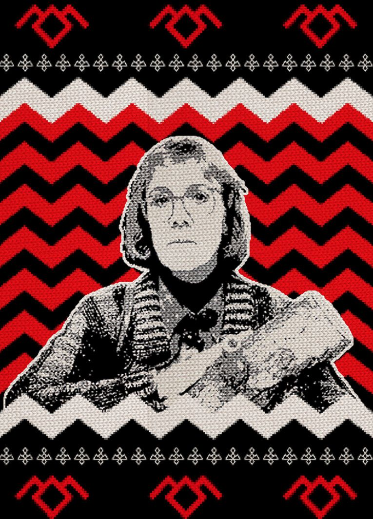 Twin Peaks Log Lady Ugly Christmas Sweater Kipp Creations
