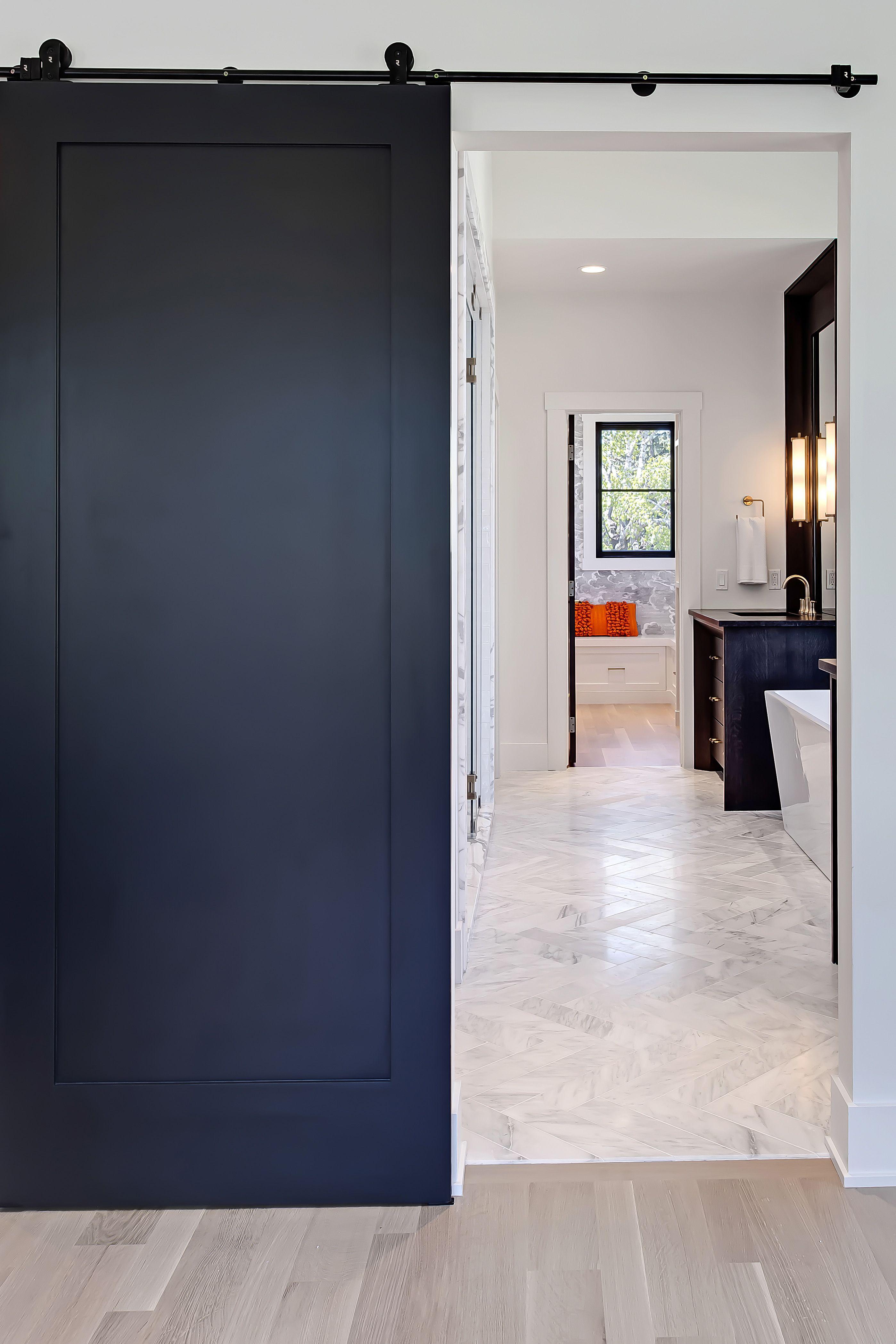 Elbow Park Council Master Bathroom By Veranda Estate Homes Inc Exterior Barn Doors Diy Barn Door Diy Door