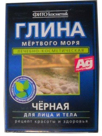 """Dead Sea Black Clay for Face and Body 100g/3.5oz by Fitocosmetik. $3.99. Made in Russia. 100g/3.5oz. 100 % natural. Black clay from the Dead Sea - is second only to minerals """"treasure"""" from the Dead Sea. Components of black clay undeniably precious for our skin. A unique mineral complex of black clay has an antiseptic, cleansing, anti-inflammatory and regenerating properties, is actively used in the treatment and prevention of acne. Minerals regulate metabolis..."""