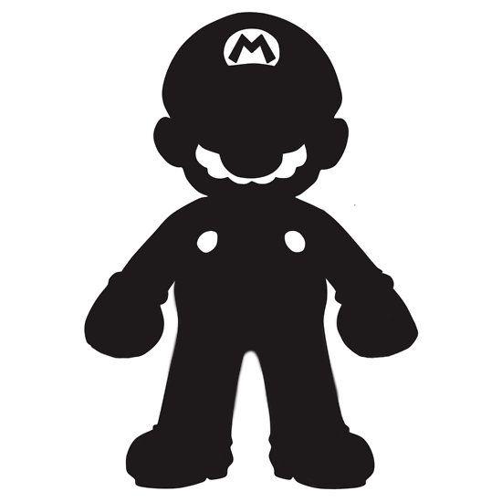 silhouette mario - Google Search