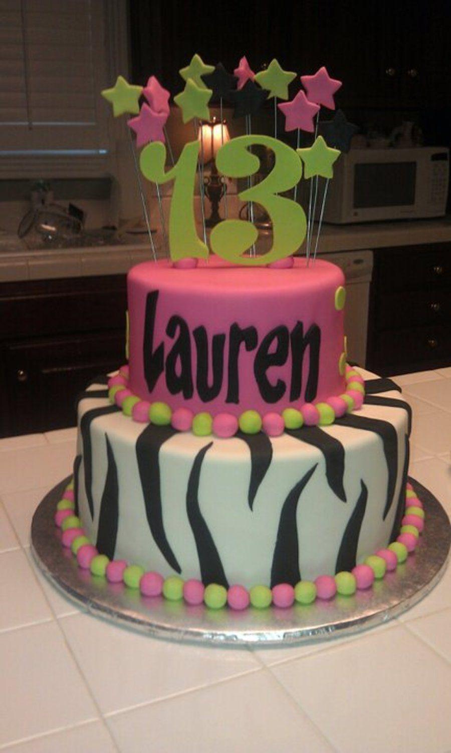 Child Designed Birthday Cake With Images 13 Birthday Cake