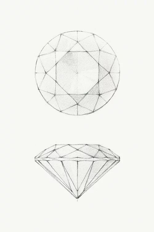 How To Draw A Diamond Diamond Drawing Diamond Sketch Jewelry
