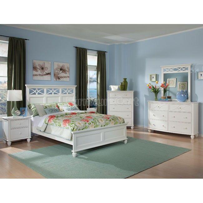 sanibel panel bedroom set white in 2019 bedroom by furniturecart rh pinterest com