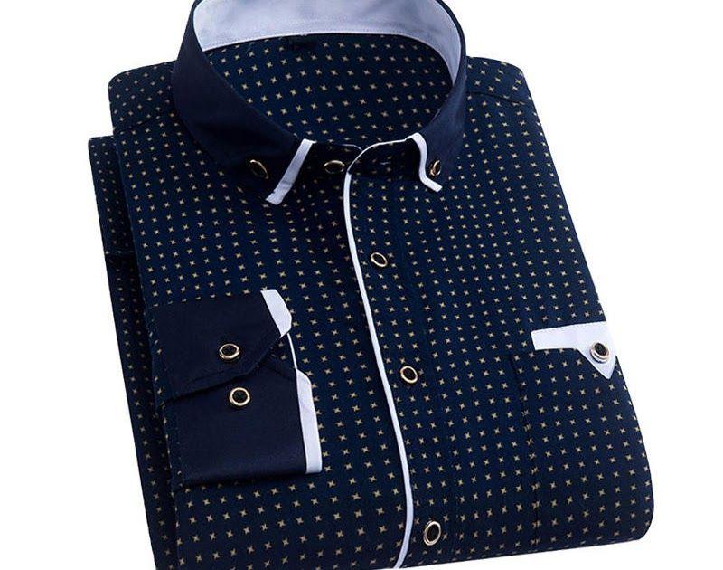 61d9b952c58 Free shipping Men Dress Shirt 2019 Spring New Arrival Button Down Collar  High Quality Long Sleeve