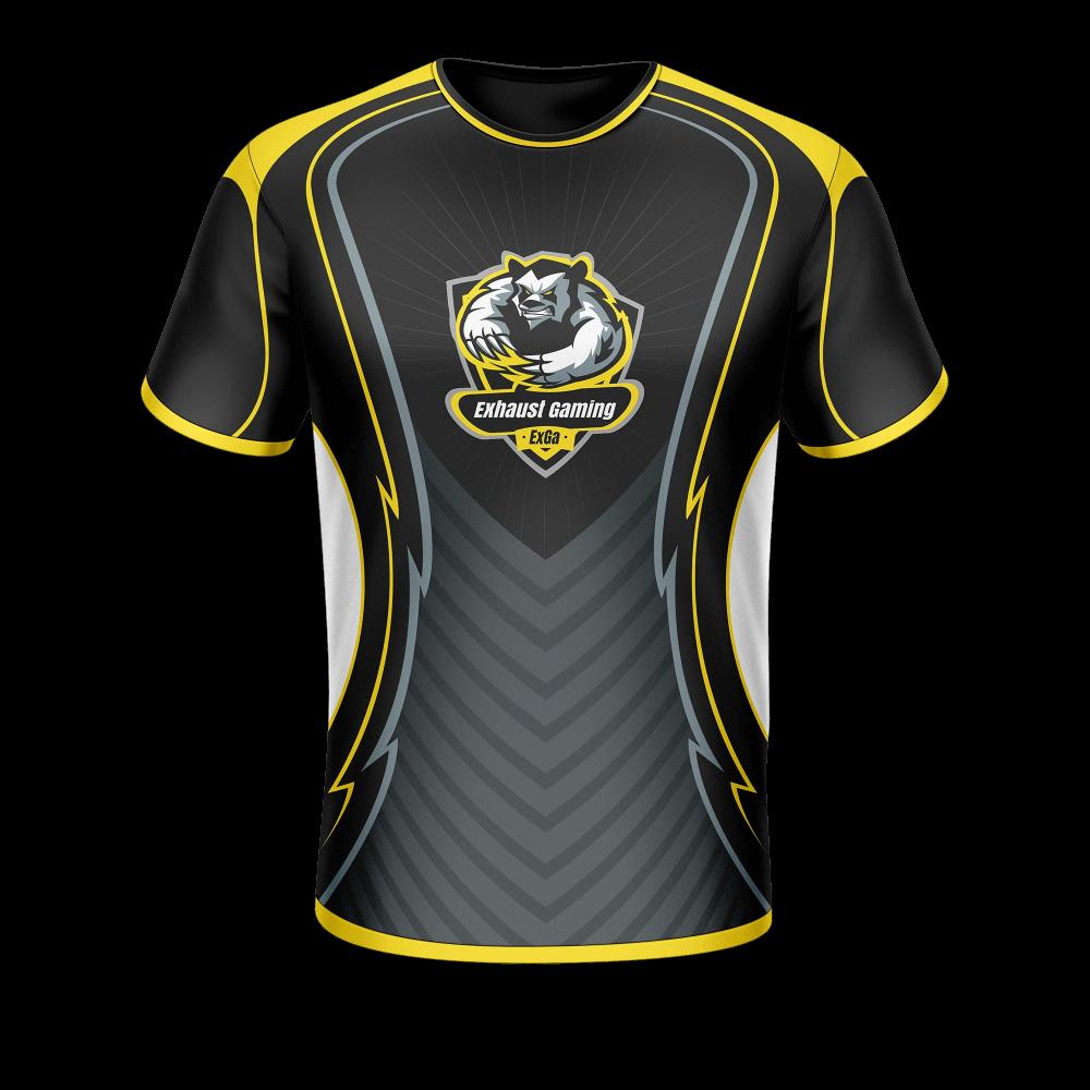 Download Jersey Gaming Black Google Penelusuran Jersey Design Sport T Shirt Shirt Template