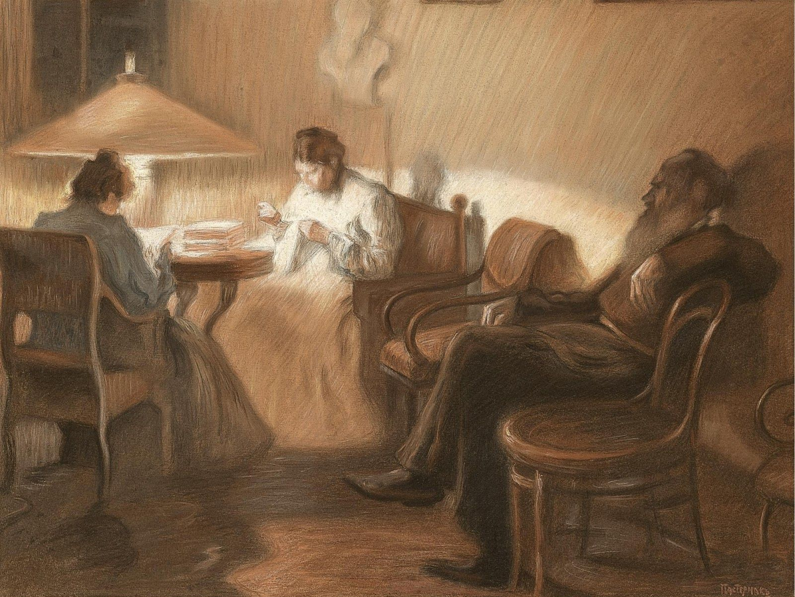 Leo Tolstoy Painting Russian Art Post Impressionists