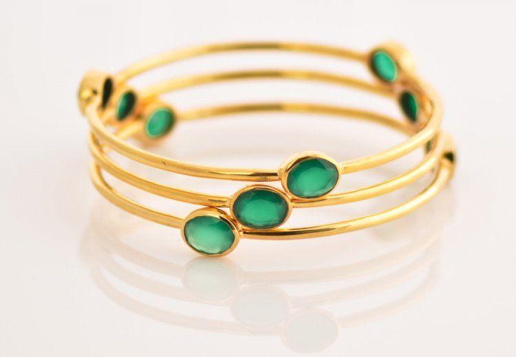 Green Onyx Bangles
