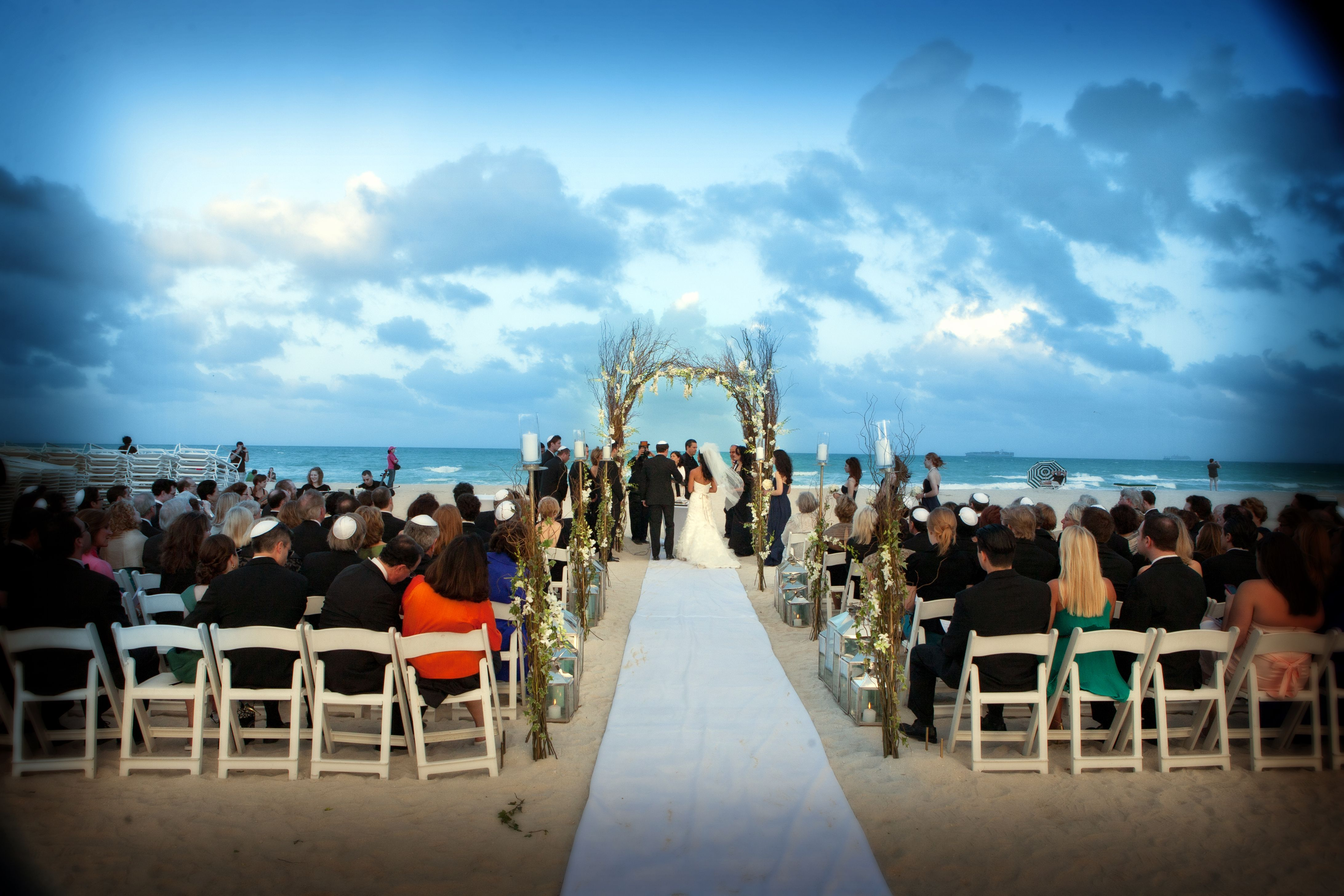 Beach Wedding At W South