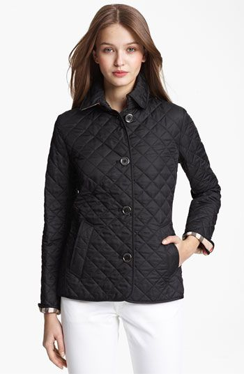 Burberry Brit Copford Quilted Jacket Nordstrom Quilted Jacket Jackets Burberry Outfit