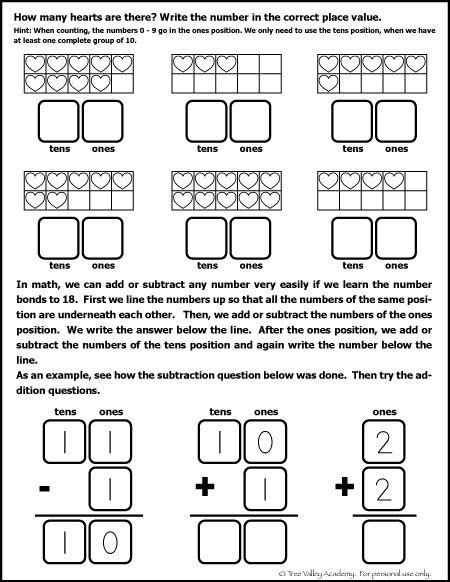 Free math worksheet for Kindergarten and Grade 1 students ...