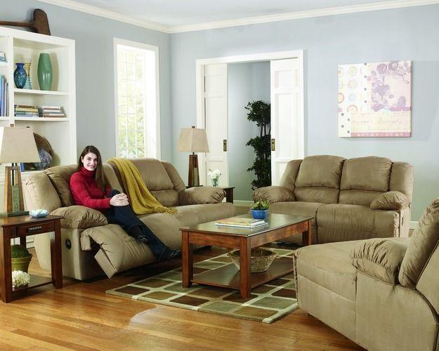 2 Seat Reclining Sofa Motion Upholstery Hogan Mocha Living Room Sofa Set Living Room Sofa